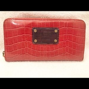 Marc by Marc Jacobs Red Zip Around Wallet